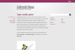 Celtmyth's news blog is launched