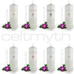 Colour variations of our May the roas verse personalised candle