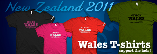 CYM-ON WALES Rugby World Cup 2011 T shirt