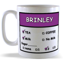 Tea, Coffee, Milk & Sugar Personalised Mugs