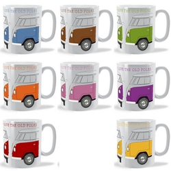 Personalised camper van mugs
