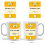 Our new Classic Novel Personalised mug design
