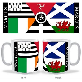 celtic nation flags mug
