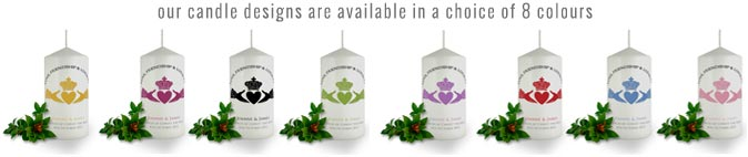personalised candle colours