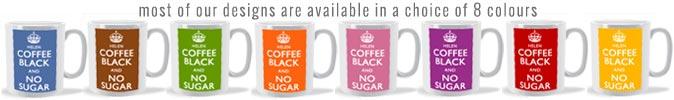 standard mug colour range