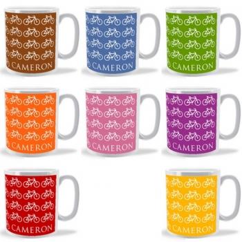 lots of bicycles personalised mug
