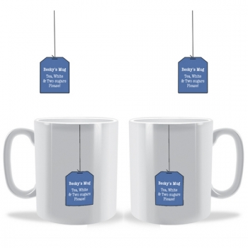 Our new Tea Bag personalised mug design