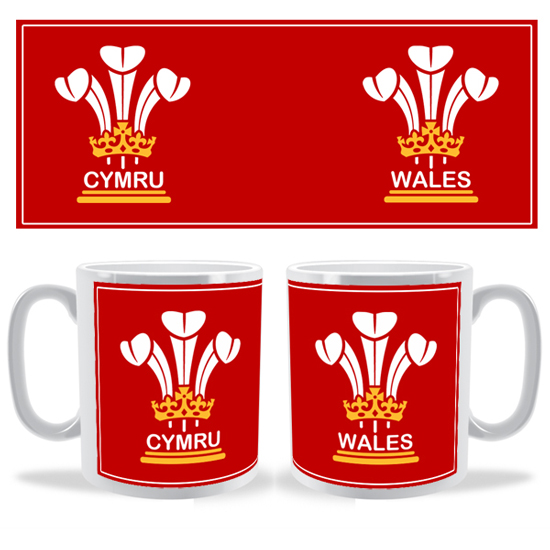 3 Feathers Cymru Wales Mug