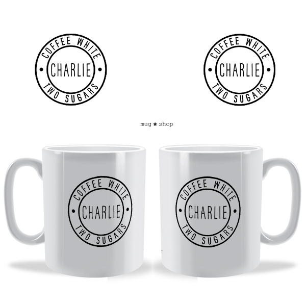 Badge Tea Coffee Personalised Mug
