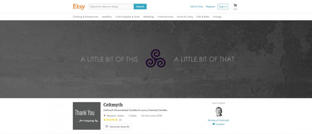 Celtmyth listed on Etsy