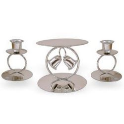 Chapel Bells Unity Candle Set in Silver