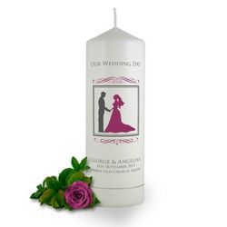 personalised wedding candles at Brinley Williams