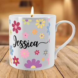 personalised scented candle mugs at Brinley Williams