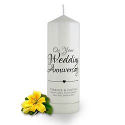 Personalised Anniversary Candles