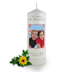 Personalised Art Nouveau Photo Frame Engagement Candle