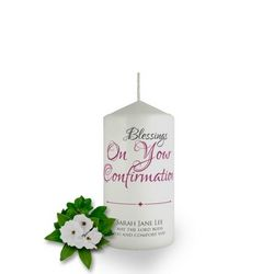 Personalised Confirmation Candle Favour