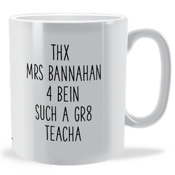 Personalised GR8 Teacha Mug