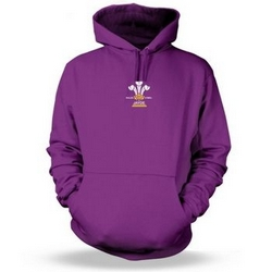 Personalised 3 Feathers Adult Hoodie