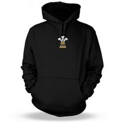 3 Feathers Wales Rugby Adult Hoodie