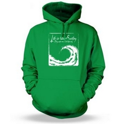 Life is Like Surfing Dragon Power Adult Hoodie