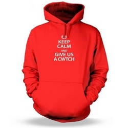 Keep Calm and Give Us a Cwtch Adult Hoodie