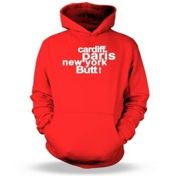 Cardiff Paris New York Butt Kids Hoodie