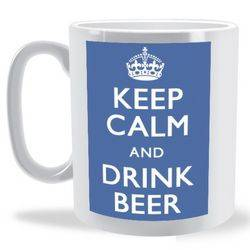 Keep Calm and Drink Beer Mug