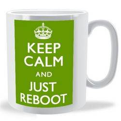 Keep Calm and Just Reboot Mug
