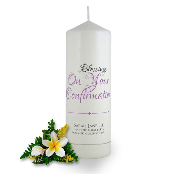 personalised blessings on your confirmation candle brinley williams