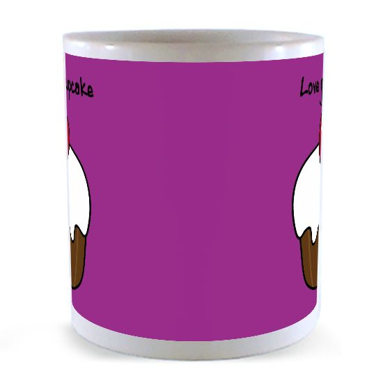 Personalised ceramic mug custom wraparound Design your own mugs uk