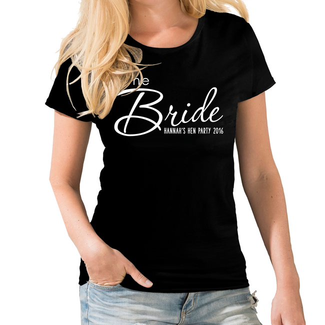 ad4693bd The Bride Personalised Hen Party T-shirt | Brinley Williams