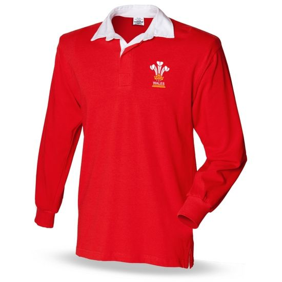 3 Feathers Wales Mens Rugby Shirt Brinley Williams