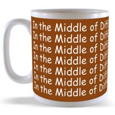 In the Middle of Difficulty lies Opportunity Mug