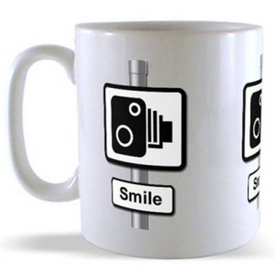 Smile - Road Sign Mug