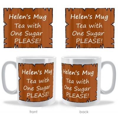 Personalised Jagged Frame Mug