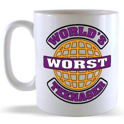 World's Worst Teenanger Mug