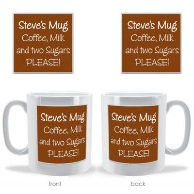 Personalised Coloured Message Board Mug
