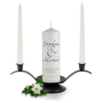 Personalised Scripted Names Unity Candle Set