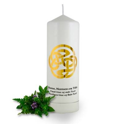 Personalised Celtic Spiral Baptism Candle