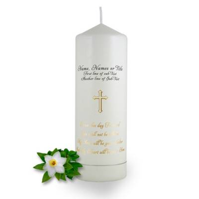 Personalised From this day Forward Baptism Candle