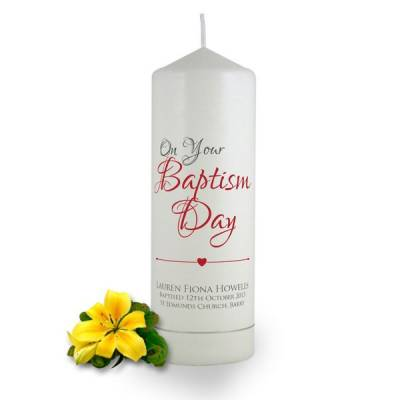 Personalised On Your Baptism Day Candle