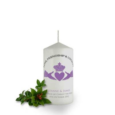 Personalised Claddagh Candle Favour