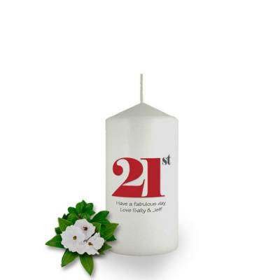 Personalised Birthday Year Candle Favor