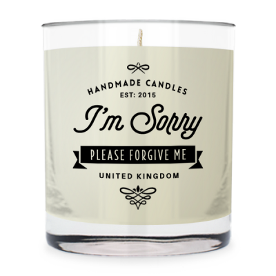 I'm Sorry ~ Scented Candle