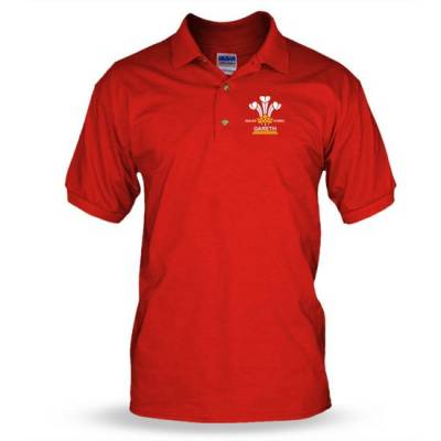Personalised 3 Feathers Mens Polo shirt