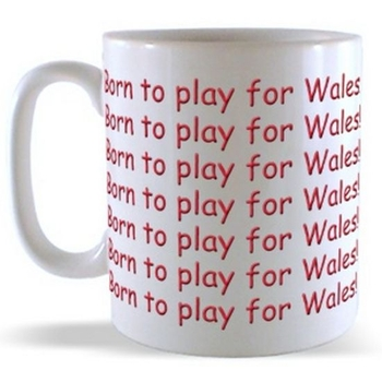 Born to play for Wales (Wraparound)  Mug