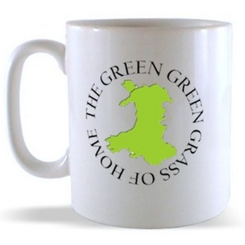 Green Green Grass of Home Welsh Map Mug