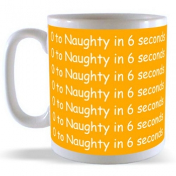0 to Naughty in 6 seconds Mug