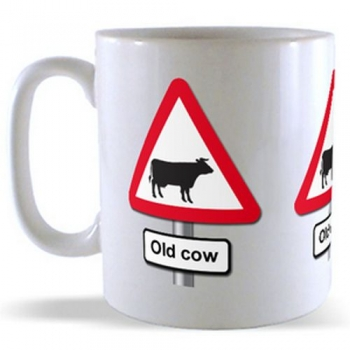 Old Cow - Road Sign Mug