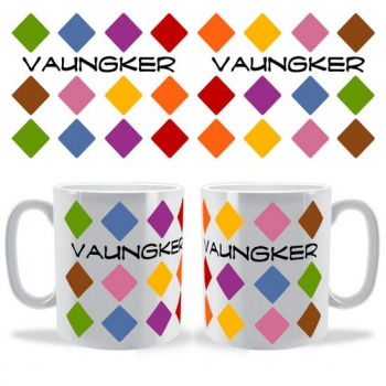 Personalised Multi Colour Diamonds Mug